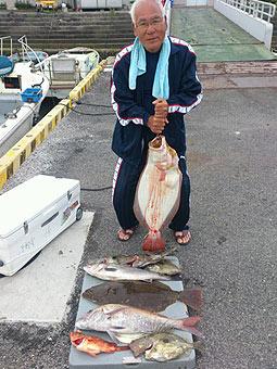 ヒラメ釣果写真